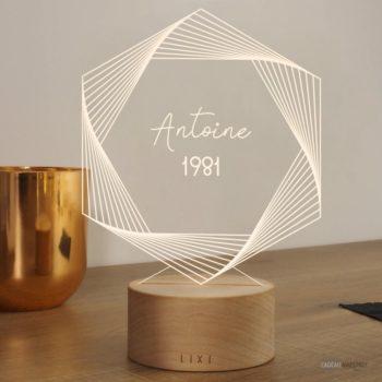 Lampe Lixi - Anniversaire personnalisable